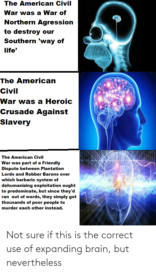 Expanding Brain: Not sure if this is the correct use of expanding brain, but nevertheless