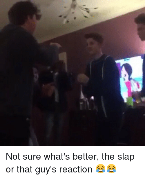 Memes, The Slap, and 🤖: Not sure what's better, the slap or that guy's reaction 😂😂