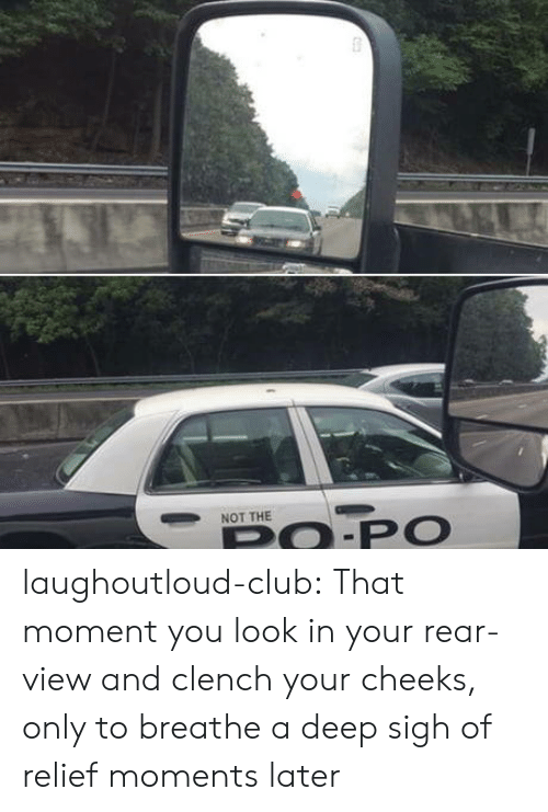 relief: NOT THE  PO.PO laughoutloud-club:  That moment you look in your rear-view and clench your cheeks, only to breathe a deep sigh of relief moments later