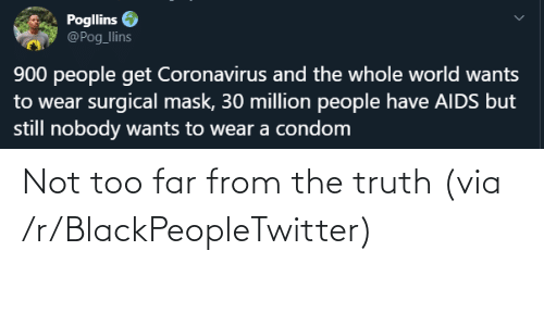 the truth: Not too far from the truth (via /r/BlackPeopleTwitter)