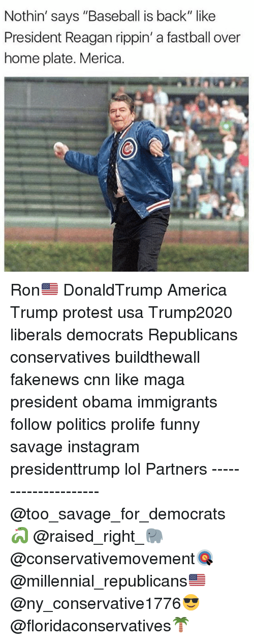 "Trump Protesters: Nothin' says ""Baseball is back"" like  President Reagan rippin' a fastball over  home plate. Merica. Ron🇺🇸 DonaldTrump America Trump protest usa Trump2020 liberals democrats Republicans conservatives buildthewall fakenews cnn like maga president obama immigrants follow politics prolife funny savage instagram presidenttrump lol Partners --------------------- @too_savage_for_democrats🐍 @raised_right_🐘 @conservativemovement🎯 @millennial_republicans🇺🇸 @ny_conservative1776😎 @floridaconservatives🌴"