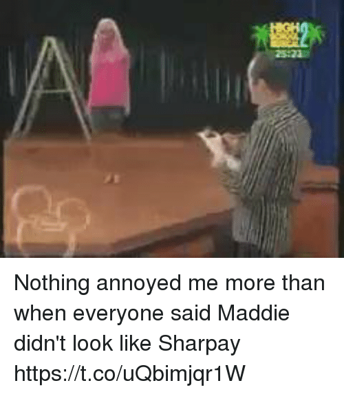 sharpay: Nothing annoyed me more than when everyone said Maddie didn't look like Sharpay https://t.co/uQbimjqr1W