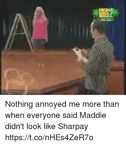 sharpay: Nothing annoyed me more than when everyone said Maddie didn't look like Sharpay https://t.co/nHEs4ZeR7o