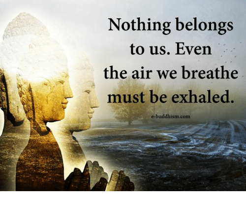Memes, Buddhism, and 🤖: Nothing belongs  to us. Even  the air we breathe  must be exhaled.  e-buddhism.com