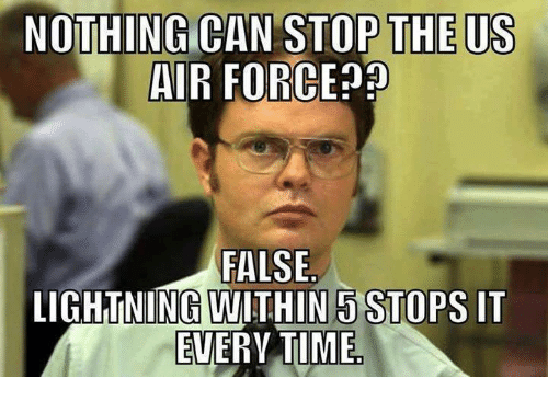 Air Force, Lightning, and Military: NOTHING CAN STOP THE US  AIR FORCE  FALSE  LIGHTNING WITHIN 5 STOPS IT  EVERYTIME