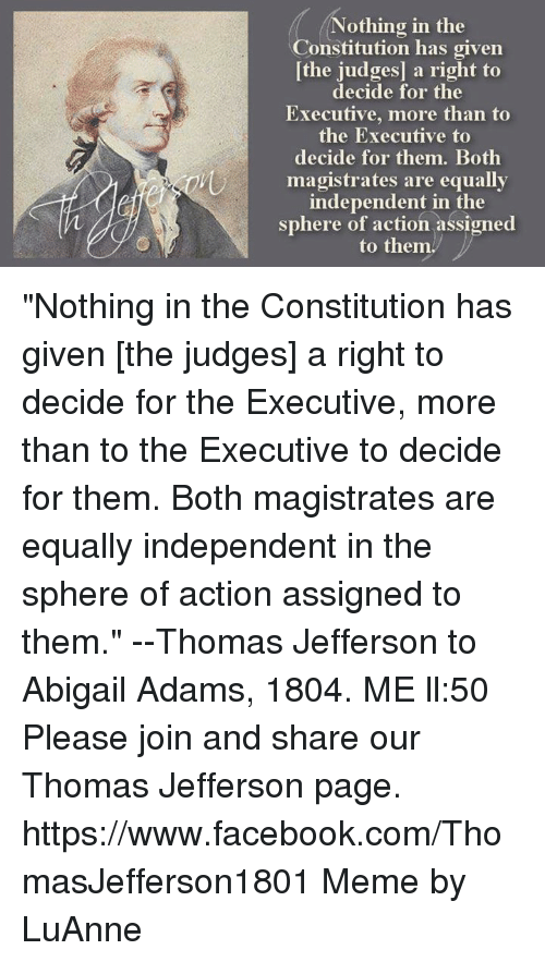 thomas jefferson decisions and actions Jefferson's political philosophy in his own words contains the founding principles of american self-government.