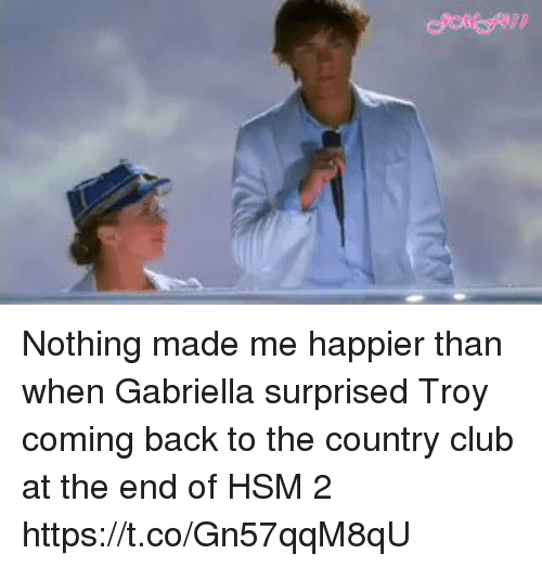 When: Nothing made me happier than when Gabriella surprised Troy coming back to the country club at the end of HSM 2 https://t.co/Gn57qqM8qU