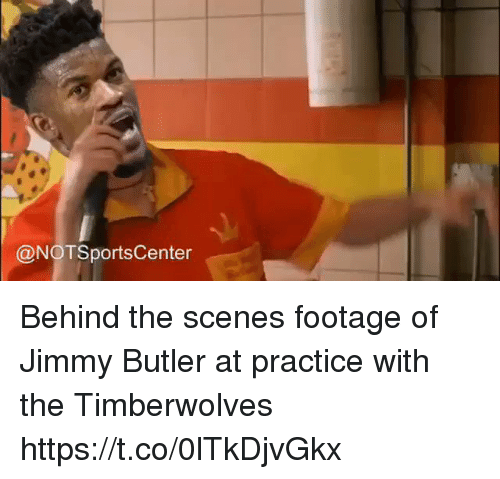 Notsportscenter: @NOTSportsCenter Behind the scenes footage of Jimmy Butler at practice with the Timberwolves https://t.co/0lTkDjvGkx