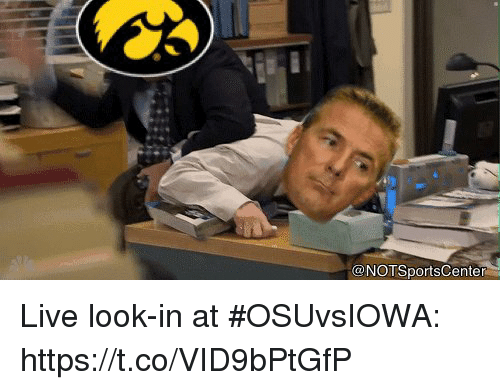 Sports, Live, and Look: @NOTSportsCenter Live look-in at #OSUvsIOWA: https://t.co/VID9bPtGfP