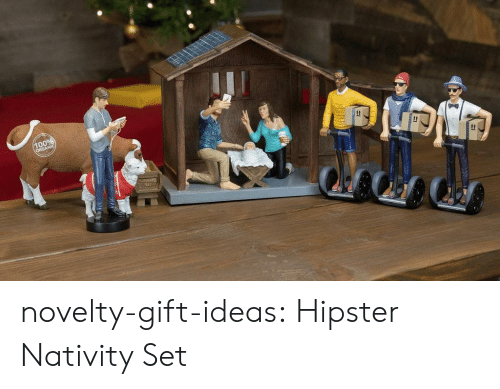 nativity scene: novelty-gift-ideas:  Hipster Nativity Set