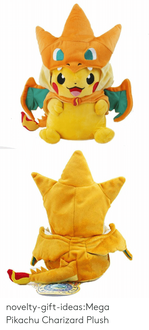 charizard: novelty-gift-ideas:Mega Pikachu Charizard Plush