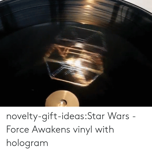 Star Wars: The Force Awakens: novelty-gift-ideas:Star Wars - Force Awakens vinyl with hologram