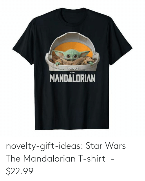 t-shirt: novelty-gift-ideas:  Star Wars The Mandalorian T-shirt  -   $22.99