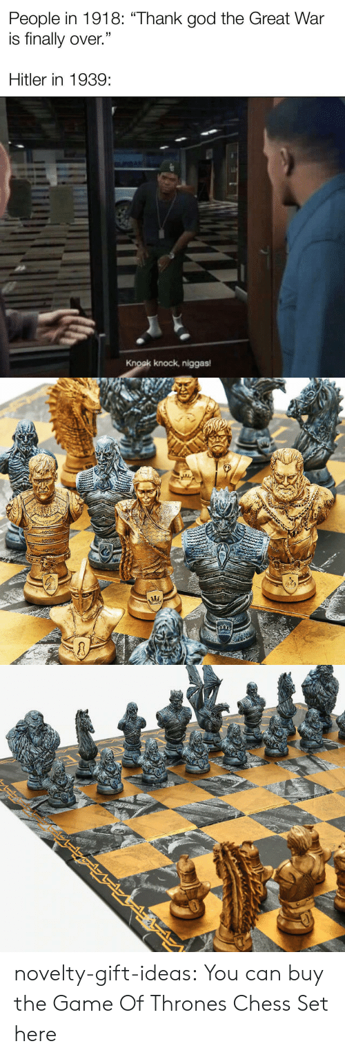 Chess: novelty-gift-ideas:  You can buy the   Game Of Thrones Chess Set here