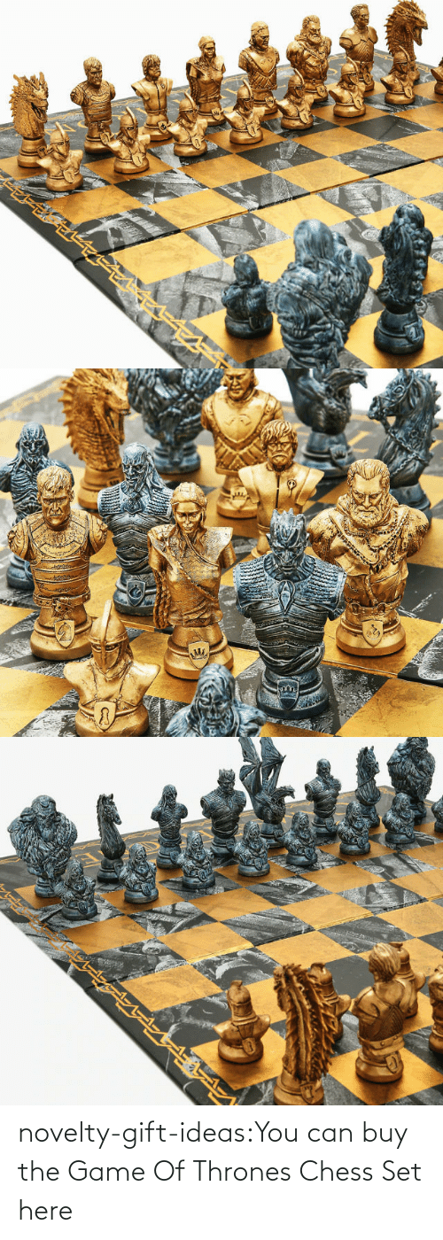 thrones: novelty-gift-ideas:You can buy the   Game Of Thrones Chess Set here