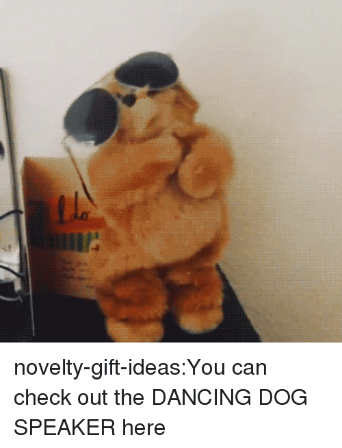 Dancing, Tumblr, and Bear: novelty-gift-ideas:You can check out the DANCING DOG SPEAKER here