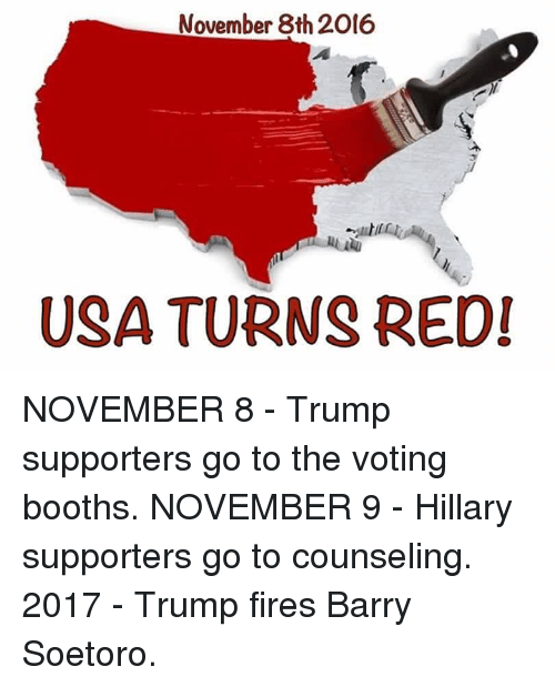 November 8th 2016 USA TURNS RED! NOVEMBER 8