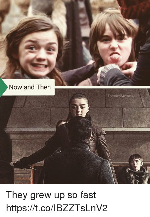 Memes, 🤖, and Fast: Now and Then  ThronesMemes They grew up so fast https://t.co/IBZZTsLnV2