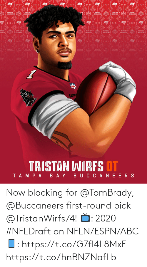 buccaneers: Now blocking for @TomBrady, @Buccaneers first-round pick @TristanWirfs74!  📺: 2020 #NFLDraft on NFLN/ESPN/ABC 📱: https://t.co/G7fI4L8MxF https://t.co/hnBNZNafLb