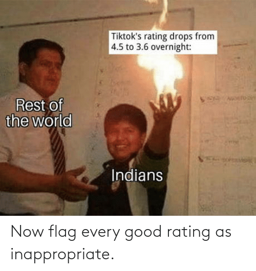 flag: Now flag every good rating as inappropriate.