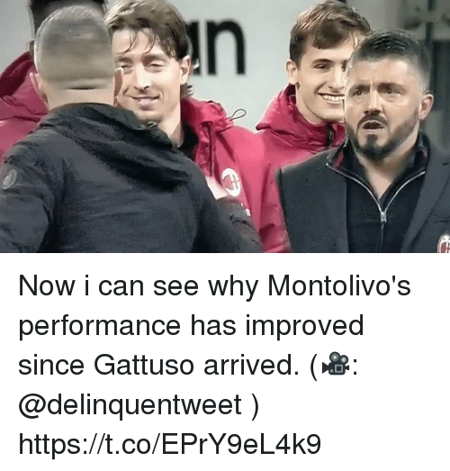 Soccer, Can, and Why: Now i can see why Montolivo's performance has improved since Gattuso arrived. (🎥: @delinquentweet )  https://t.co/EPrY9eL4k9