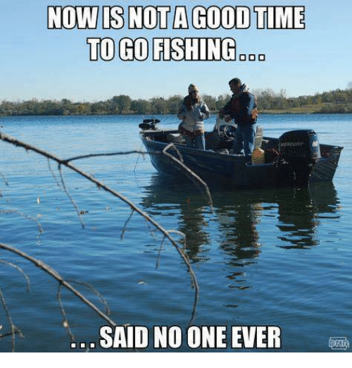 Funny said no one ever memes of 2017 on sizzle for Good fishing times