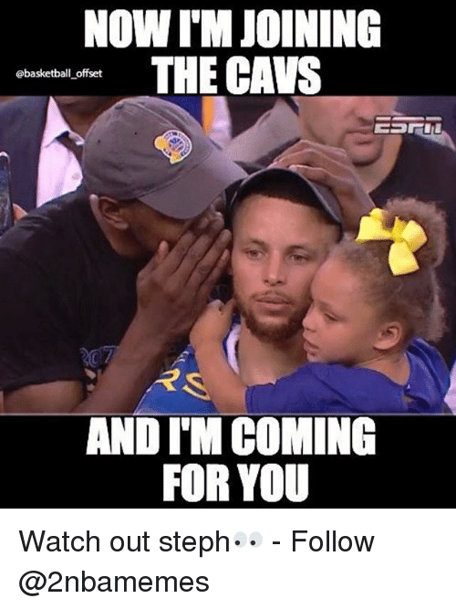 Basketball, Nba, and Watch Out: NOW ITM JOINING  THE CAWS  @@basketball offset  RS.  AND IM COMING  FOR YOU Watch out steph👀 - Follow @2nbamemes