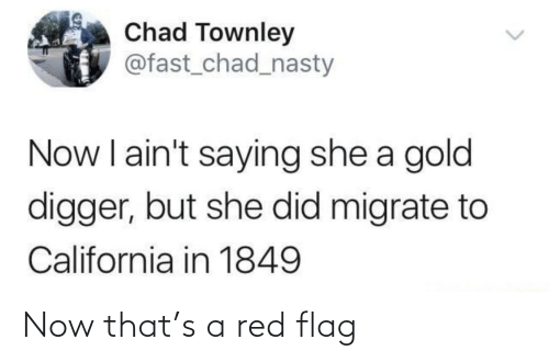 red flag: Now that's a red flag