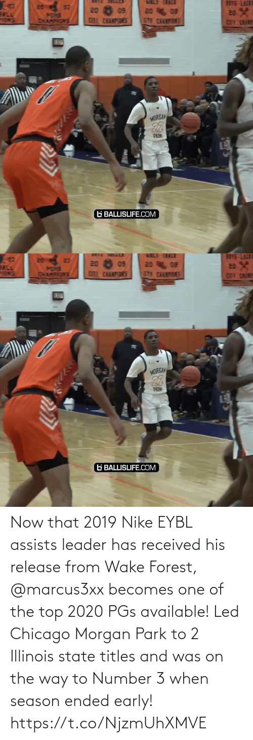 park: Now that 2019 Nike EYBL assists leader has received his release from Wake Forest, @marcus3xx becomes one of the top 2020 PGs available! Led Chicago Morgan Park to 2 Illinois state titles and was on the way to Number 3 when season ended early! https://t.co/NjzmUhXMVE