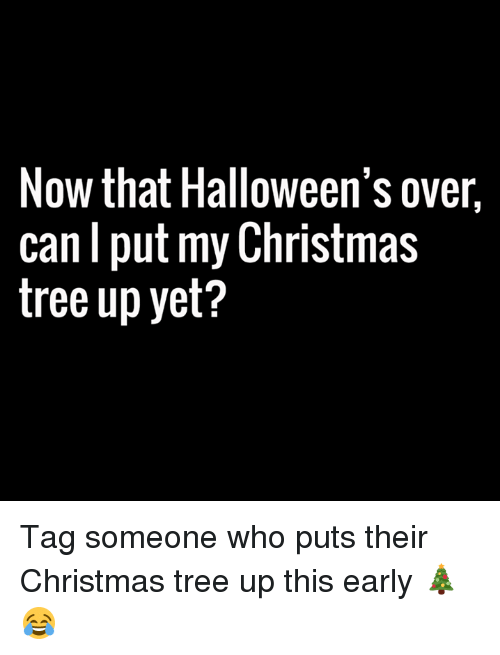 now that halloweens over can put my christmas tree up 6233639 now that halloween's over can put my christmas tree up yet? tag