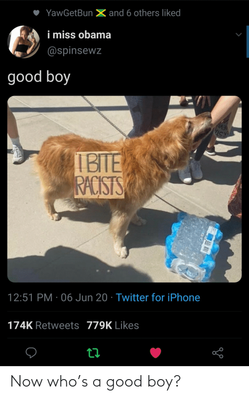 A Good: Now who's a good boy?