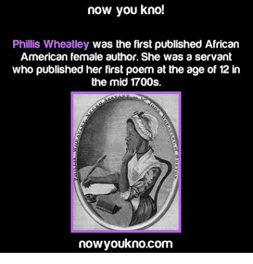 a biography of phillis wheatley the first published african american woman - phillis wheatley is a gem of her time the first african-american woman to have her poetry published though purchased as a slave, her life was far from most african-americans during the 17th century.