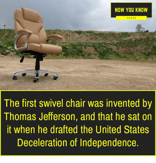 Fabulous Now You Know Facts The First Swivel Chair Was Invented By Beatyapartments Chair Design Images Beatyapartmentscom