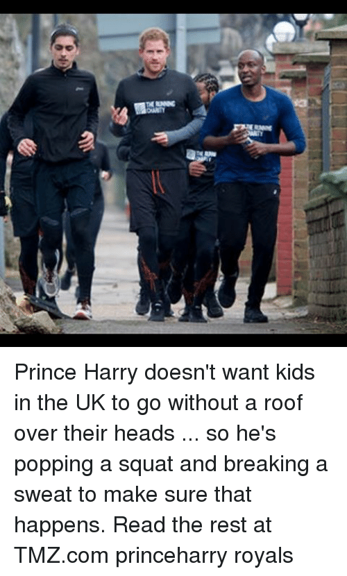 Memes, Prince, and Prince Harry: NRAN Prince Harry doesn't want kids in the UK to go without a roof over their heads ... so he's popping a squat and breaking a sweat to make sure that happens. Read the rest at TMZ.com princeharry royals