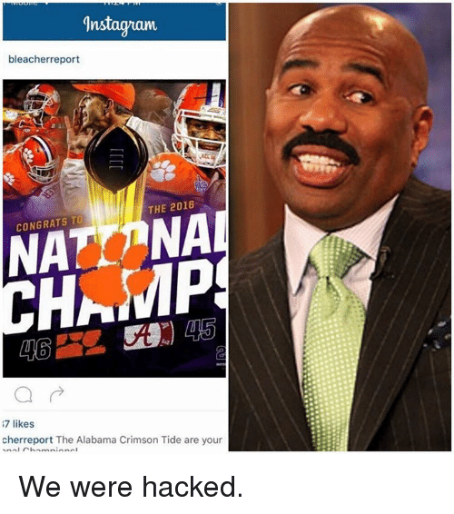 Crimson Tide, Sports, and Alabama: ns  bleacher report  THE 2016  CONGRATS TO  HAMP  7 likes  cherreport The Alabama Crimson Tide are your  AnAI We were hacked.