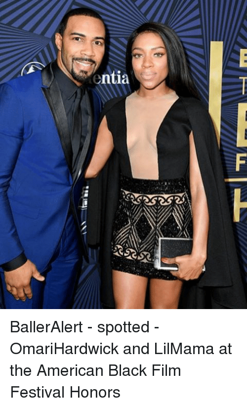Memes, American, and Black: ntia  trial-F-L BallerAlert - spotted - OmariHardwick and LilMama at the American Black Film Festival Honors