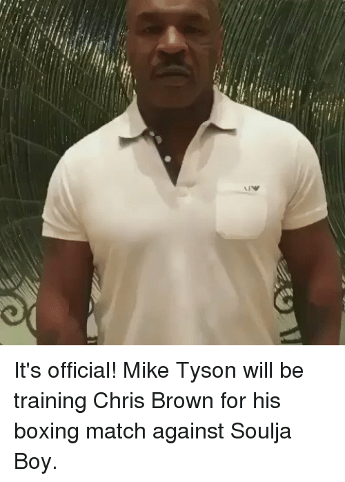 Chris Brown, Funny, and Mike Tyson: NW It's official! Mike Tyson will be training Chris Brown for his boxing match against Soulja Boy.