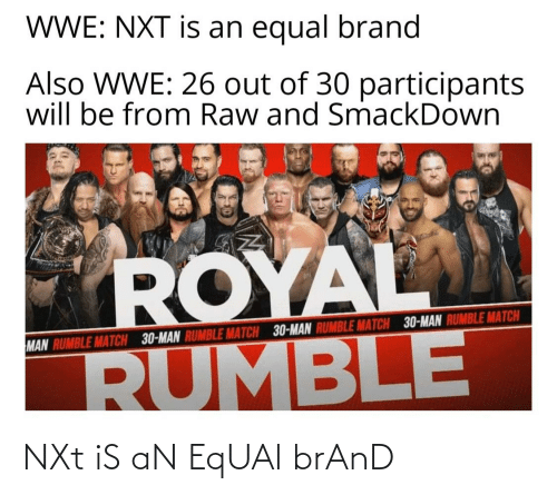 nxt: NXt iS aN EqUAl brAnD