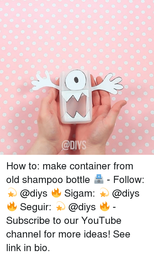 youtube.com, How To, and Link: o o o o o  o o o o How to: make container from old shampoo bottle 🗳 - Follow: 💫 @diys 🔥 Sigam: 💫 @diys 🔥 Seguir: 💫 @diys 🔥 - Subscribe to our YouTube channel for more ideas! See link in bio.