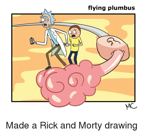 Post Mades: O.Ov  flying plumbus Made a Rick and Morty drawing