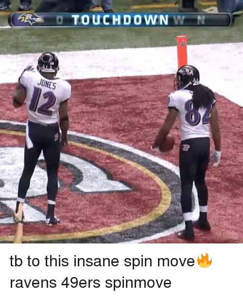 49er: O TOUCHDOWN  W N  JONES tb to this insane spin move🔥 ravens 49ers spinmove