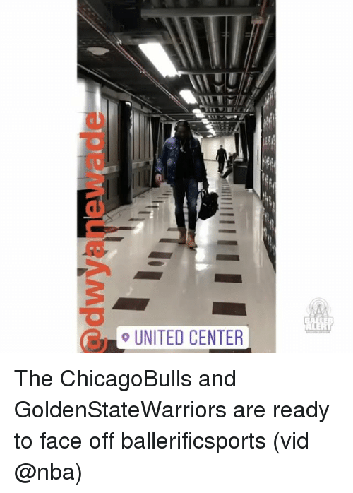 Memes, 🤖, and Face Off: o UNITED CENTER The ChicagoBulls and GoldenStateWarriors are ready to face off ballerificsports (vid @nba)