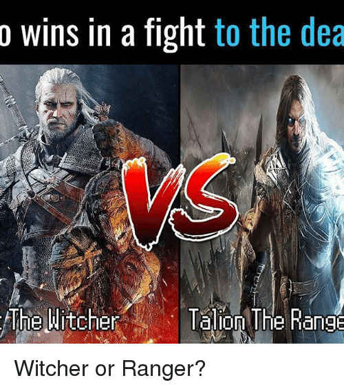 Witchers: o wins in a fight to the dea  The Witcher  lalon The Range Witcher or Ranger?