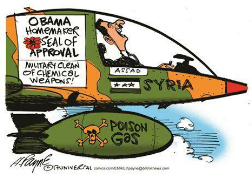 assad: OBAMA  HOMEMAKER  SEAL of  PPROVAL  MUTARI  CueAN  OF CHEMICAL  WEAPONS!  ASSAD  SYRIA  PONSON  Gas
