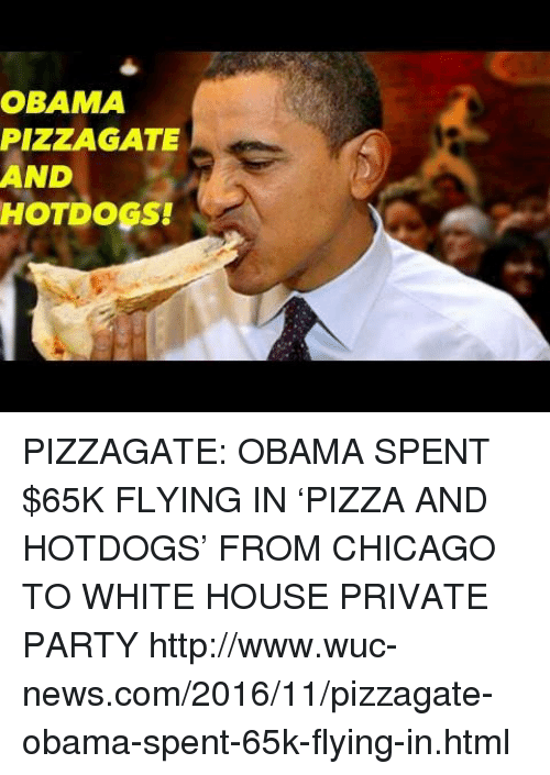 Obama Spent   Flying In Pizza Hot Dogs