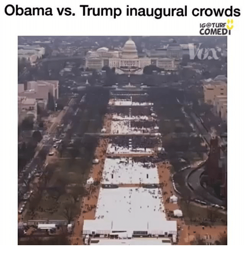 Obama Vs Trump: Obama vs. Trump inaugural crowds  IG@TURF  COMEDI