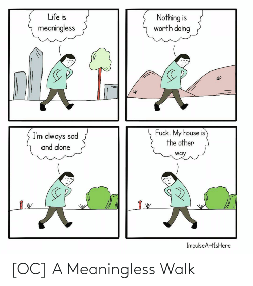 walk: [OC] A Meaningless Walk