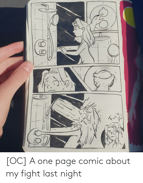 Fight: [OC] A one page comic about my fight last night