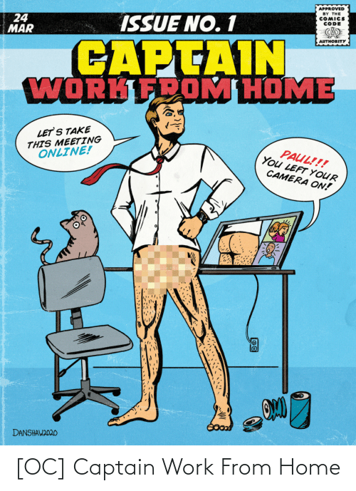 captain: [OC] Captain Work From Home