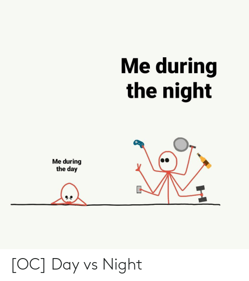 night: [OC] Day vs Night
